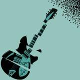 Fond déchiqueté de musique de guitare Photos libres de droits