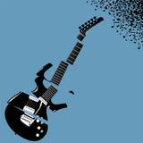 Fond déchiqueté de musique de guitare Images stock