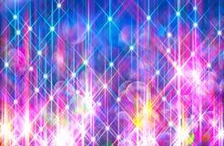 Fond de Ðœodern des rayons brillants colorés sur le bleu illustration libre de droits