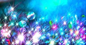 Fond de Ðœodern des rayons brillants colorés sur le bleu illustration stock