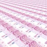fond de 500 euro Photographie stock