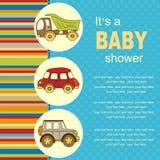 Fond de bébé avec des voitures et avec l'endroit pour le texte Photographie stock libre de droits
