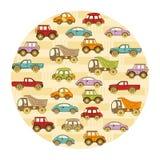 Fond de bébé avec des voitures et avec l'endroit pour le texte Photo libre de droits