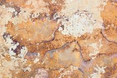 Fond de béton avec des taches de rouille Photos stock