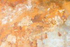 Fond de béton avec des taches de rouille Image libre de droits