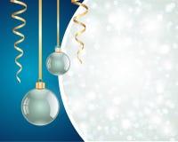 Fond de babiole de Noël Photographie stock libre de droits
