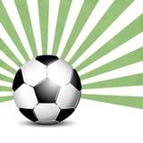 Fond de ballon de football avec des rayons Photo stock