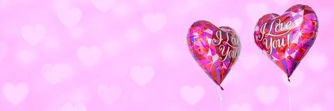 Fond de ballons d'amour de valentines et de coeurs d'amour Images stock