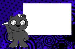 Fond de bande dessinée d'émotion de mouffette illustration de vecteur
