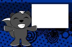 Fond de bande dessinée d'émotion de mouffette de sourire illustration de vecteur