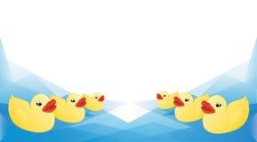 Fond de bande dessinée de canard Image stock