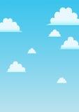 Fond de bande dessinée de ciel Photos libres de droits