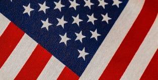 Fond de bannière étoilée avec le drapeau tissé Photographie stock