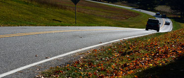 Fond de bannière de voyage par la route Photos libres de droits