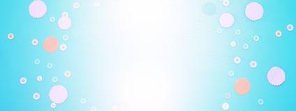 Fond de bannière du cadre ornemental des textes des boutons colorés Photographie stock