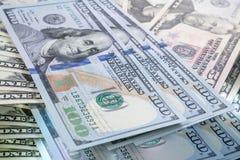 Fond de banque du dollar de tache floue Photographie stock libre de droits