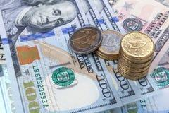 Fond de banque du dollar de tache floue Photos stock