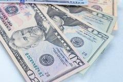 Fond de banque du dollar de tache floue Image libre de droits