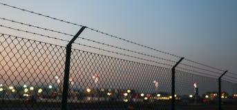 Fond de barrière de soirée d'aéroport Image stock