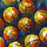Fond de basket-ball Photographie stock libre de droits