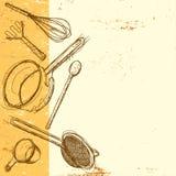 Fond de batterie de cuisine Images libres de droits