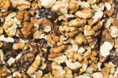 Fond de beaucoup de noix criquées fraîches Images stock