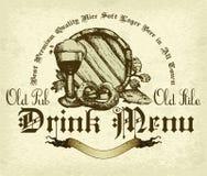 Fond de bière Photo libre de droits