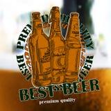 Fond de bière Photos libres de droits