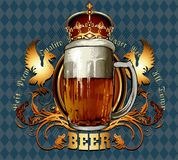 Fond de bière Photo stock