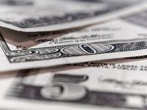 Fond de billets d'un dollar Photos libres de droits