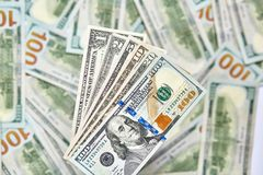 Fond de 100 billets d'un dollar Américain d'argent cent Bi du dollar Image libre de droits