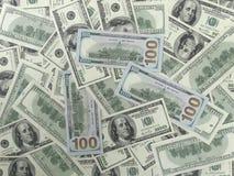 100 fond de billets d'un dollar - 2 visages Photos libres de droits