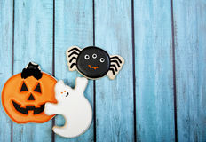 Fond de biscuit de Halloween photo libre de droits