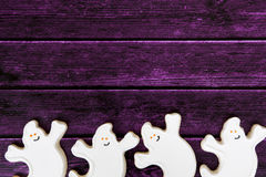 Fond de biscuit de Halloween Photo stock