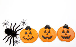 Fond de biscuit de Halloween images stock