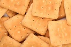Fond de biscuit de soude de saltine d'enjeu. Photos libres de droits