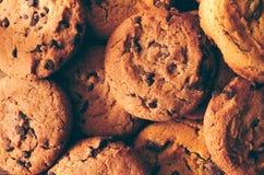 Fond de biscuits de chocolat - plan rapproché images stock