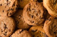 Fond de biscuits de chocolat - vue supérieure photographie stock