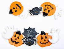 Fond de biscuits de Halloween photographie stock libre de droits