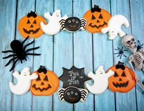Fond de biscuits de Halloween photos stock