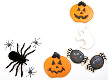 Fond de biscuits de Halloween images libres de droits