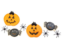 Fond de biscuits de Halloween photo stock