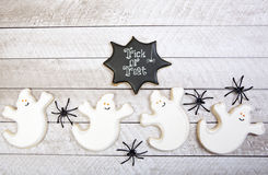 Fond de biscuits de Halloween photos libres de droits