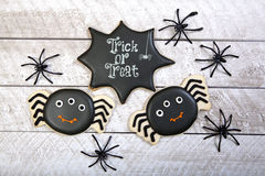 Fond de biscuits de Halloween images stock
