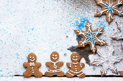 Fond de biscuits de pain d'épice de Noël Photo stock