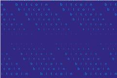 Fond de Bitcoin Résumé, contexte, de style de la Matrix Illustration de vecteur Image libre de droits