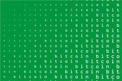 Fond de Bitcoin Résumé, contexte, de style de la Matrix Illustration de vecteur Photographie stock