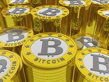 Fond de Bitcoins Images libres de droits