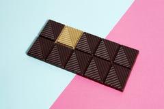 Fond de blanc de chocolat d'or Image libre de droits
