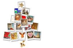 Fond de blanc d'arbre de Noël Photographie stock